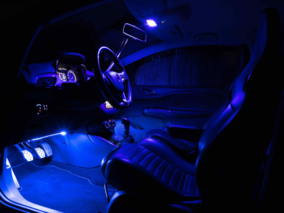 blaue Beleuchtung